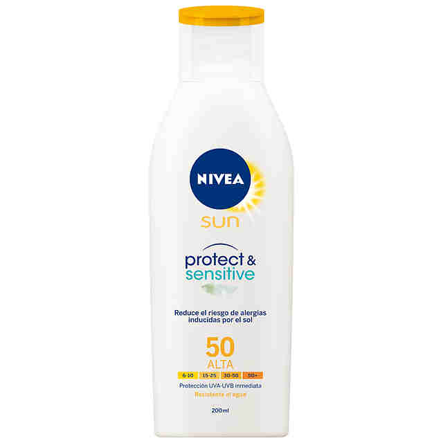 Leche Solar Nivea Sensitive Adultos FP 50 200ml