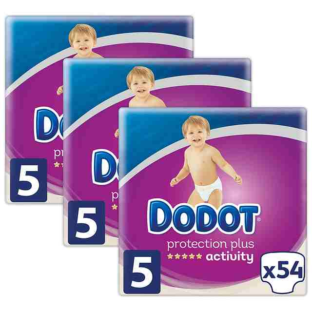 Pañales Dodot Activity Talla 5 (Pack 162 uds)
