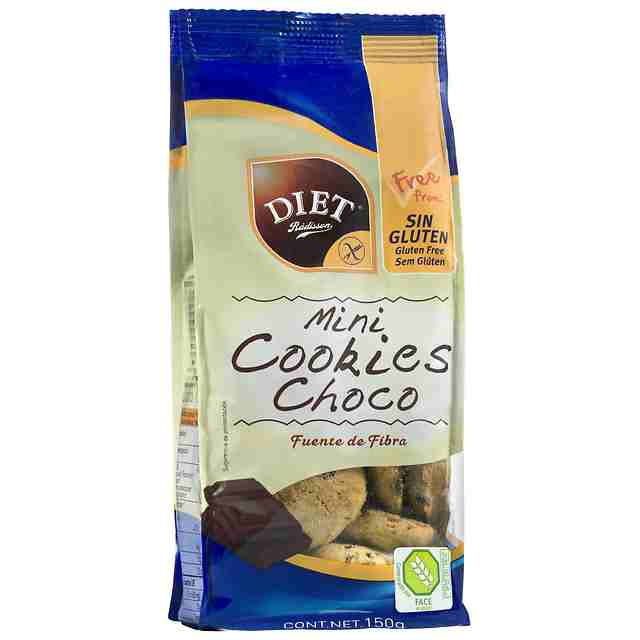 Mini Cookies de chocolate sin gluten