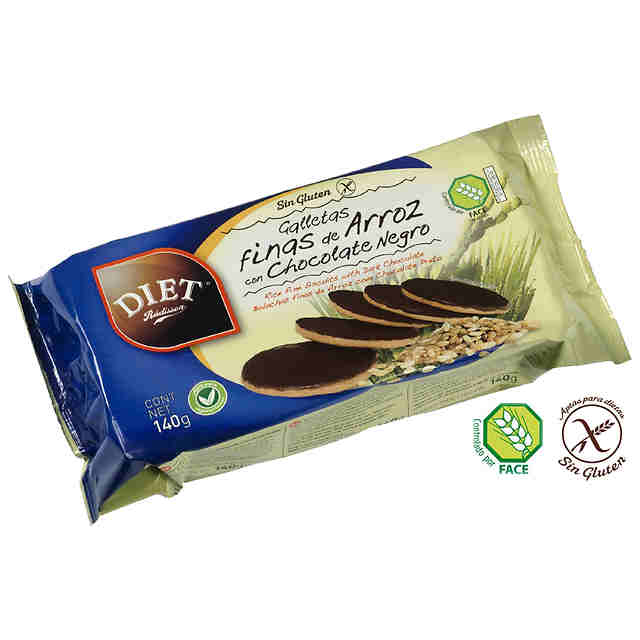 DIET Rádisson Galletas de Arroz con Choco Negro Sin Gluten