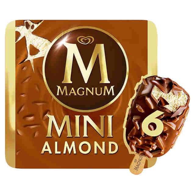 Magnum  Mini Almendras  Helado (Pack 6 x 60ml)
