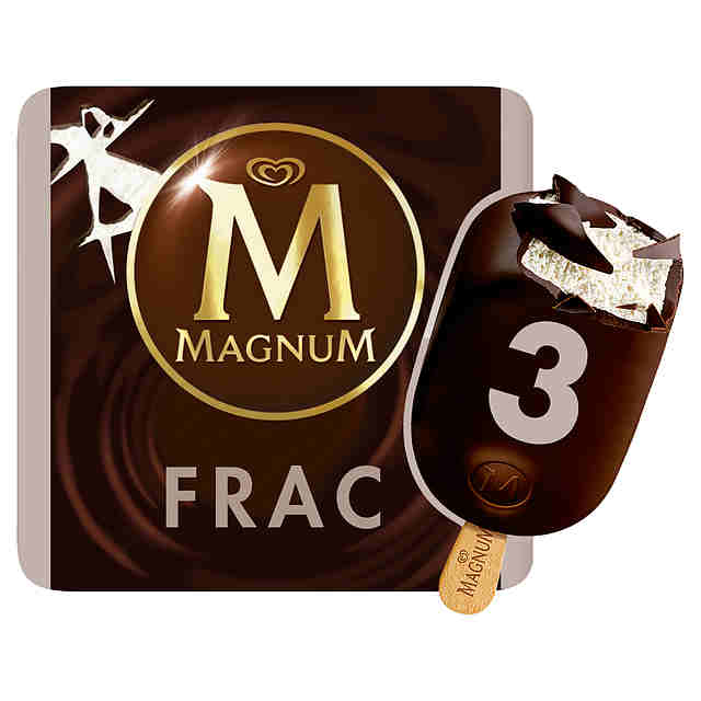 Magnum  Chocolate Negro  Helado 3 x 110 ml