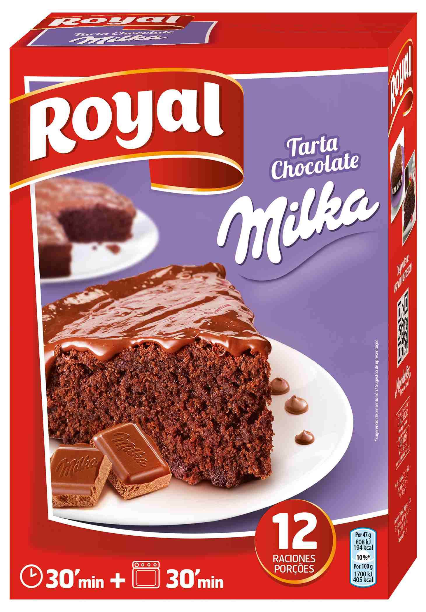 Comprar Tarta De Chocolate Milka Royal En Ulabox Com