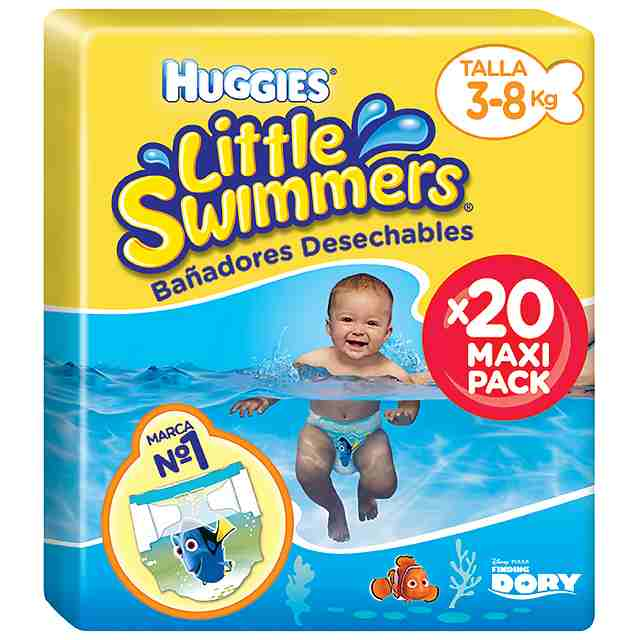 Bañadores Pañales Huggies Little Swimmers Talla 2 & 3 (Pack 20 und)