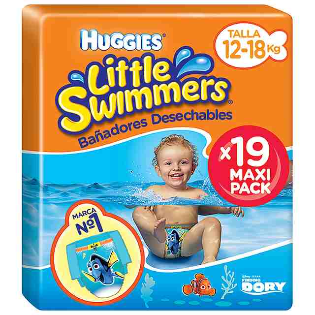 Bañadores Huggies Little Swimmers Talla 5 & 6 (Pack 19 und)