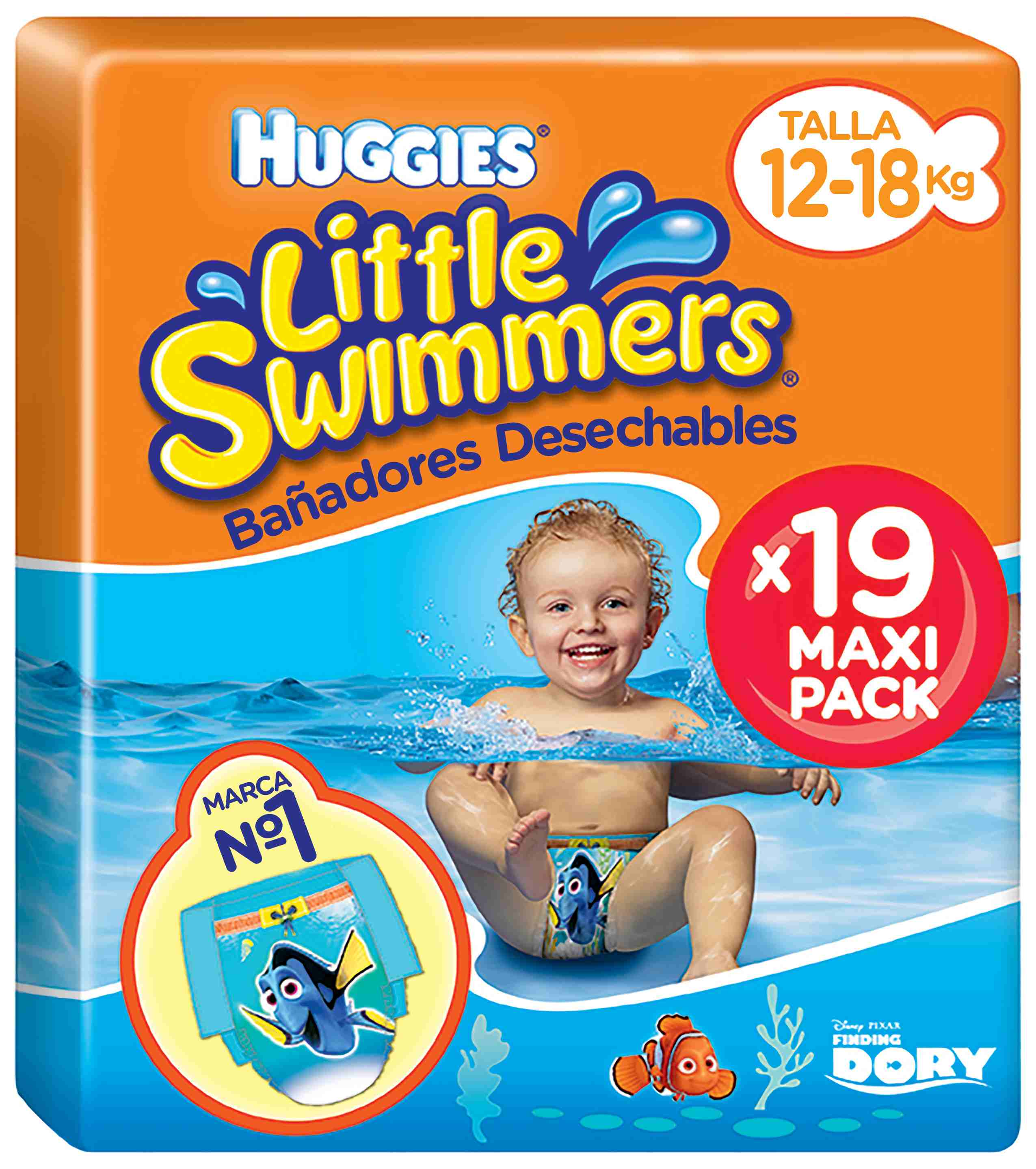 20ba21108 Comprar Bañadores Huggies Little Swimmers Talla 5   6 (Pack 19 und ...