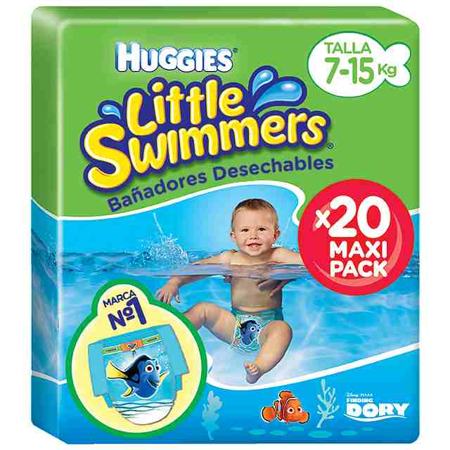 Bañadores Huggies Little Swimmers Talla 3 & 4 (Pack 20 und)