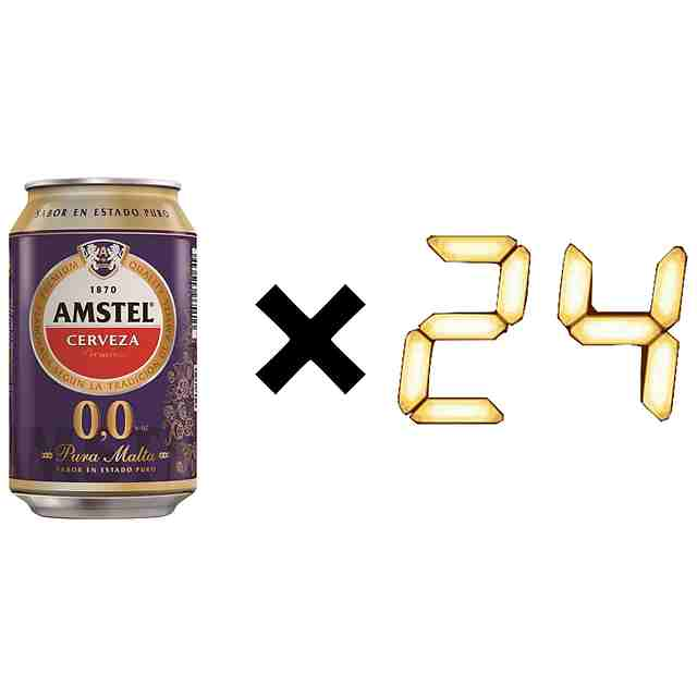 Amstel Cerveza Sin Alcohol Lata (Pack 24 x 33cl)