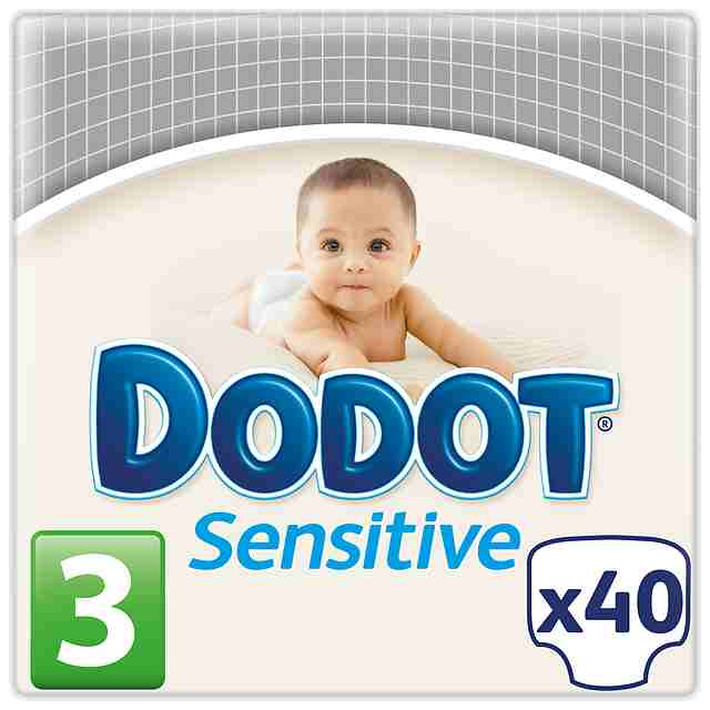 Pañales Dodot Sensitive Talla 3 (Pack 40 und)