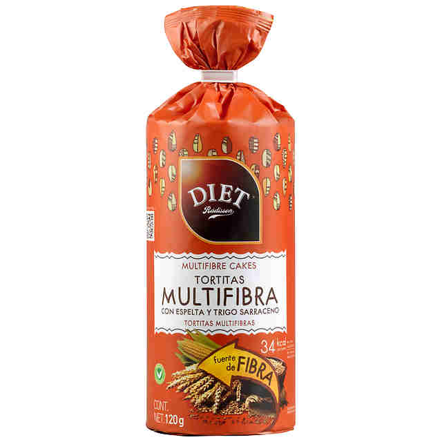 Tortitas Multifibra DIET Rádisson 120g