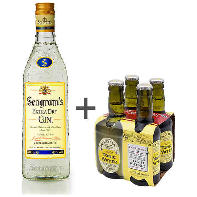 Seagram's Ginebra + Fentimans Tónica (Pack 4x20cl.) Pack Gin & Tonic