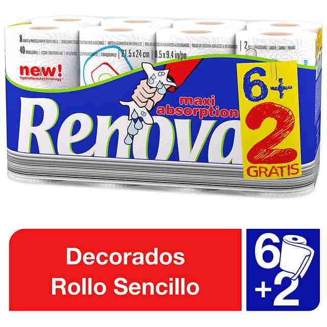 Rollo Cocina Renova Maxi absorption 6+2 gratis